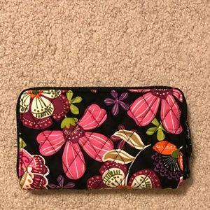 Vera Bradley Zip-Around Wallet in Pirouette Pink